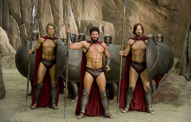 Has 300 naked spartans