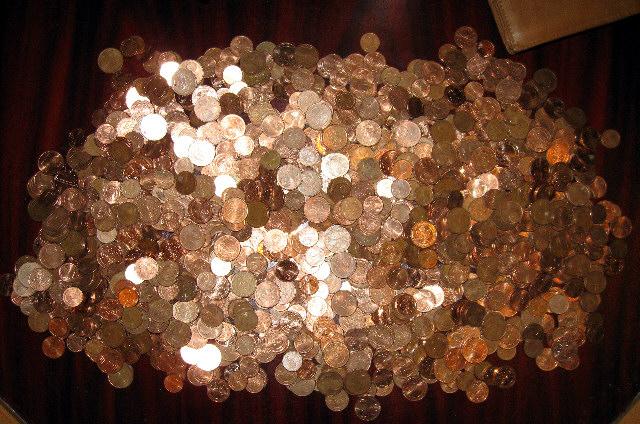Münzen, Sammlung, Münzenregen, Anderes, Verschiedenes, Random