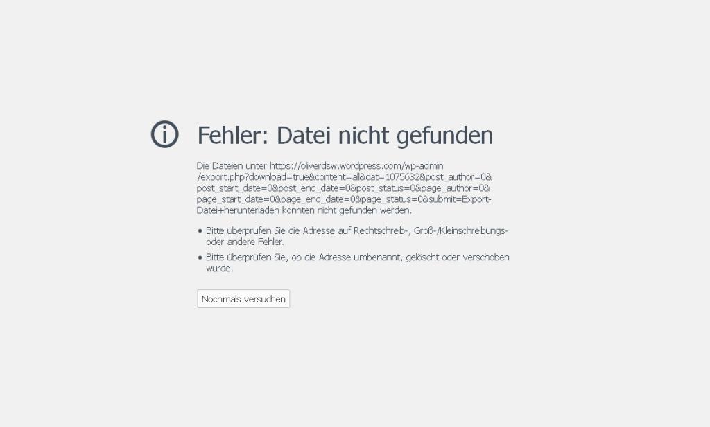 wordpress-export-not-working_error